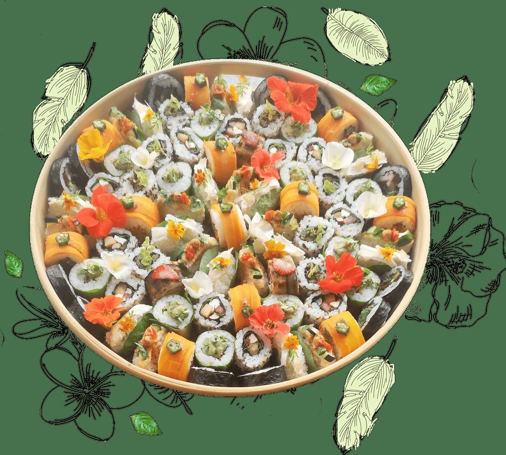 plateau de sushis frais sur mesure