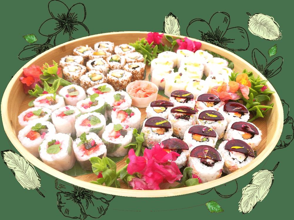 plateau de sushis pour réceptions, mariages, anniversaires